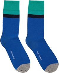 Tiger Of Sweden Blue And Green Emilio Socks