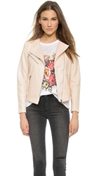 Generation Love Piper Quilted Moto Jacket Nude