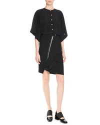 Givenchy Silk Dolman Sleeve Blouse Black