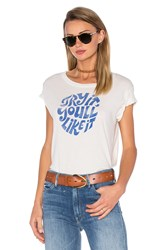 Mother The Boxy Goodie Goodie Tee White