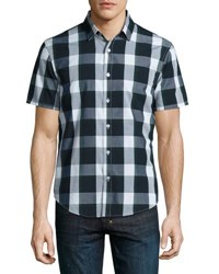 Original Penguin Short Plaid Short Sleeve Sport Shirt Green