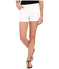 Blank Nyc Hi Rise Short Cut Off Bottoms W Distressing White Women's Shorts