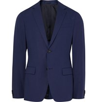 Theory Blue Rodolf Slim Fit Stretch Cotton Blazer Blue