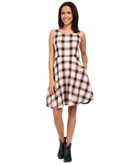 Stetson Cameo Pink Plaid Dress Pink Women's Dress
