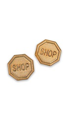 Moschino Clip On Earrings Gold