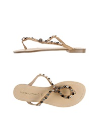 Francesco Milano Thong Sandals Black