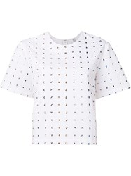 Rosie Assoulin Crystal Embellishments T Shirt White
