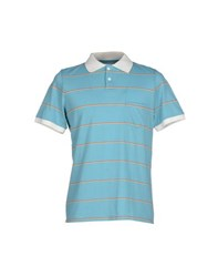 Band Of Outsiders Topwear Polo Shirts Men Sky Blue