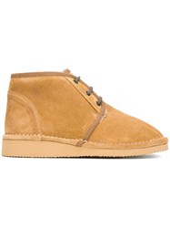 Golden Goose Deluxe Brand Shearling Lined Desert Boots Nude Neutrals