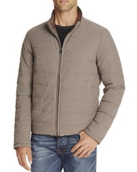 Herno Reversible Flannel Nylon Quilted Down Jacket Grey