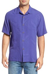 Tommy Bahama Men's 'Rio Fronds' Regular Fit Silk Camp Shirt Orient Blue