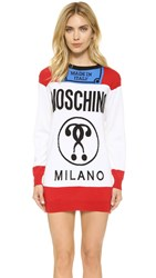 Moschino Sweater Dress White Multi
