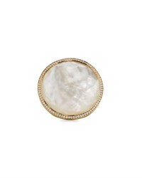 Ippolita Lollipop 18K Mother Of Pearl And Diamond Cocktail Ring Size 7