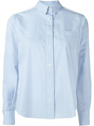 Sacai Lace Back Shirt Blue