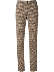 Y Project Houndstooth Trousers Brown