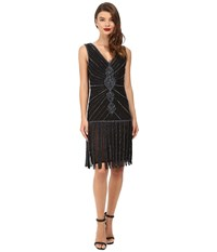 Unique Vintage Deco Beaded Aelita Flapper Dress Black Women's Dress