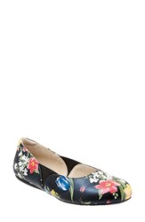 Women's Softwalk 'Norwich' Flat Midnight Floral Leather
