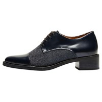 Selected Femme Scartlett Lace Up Brogues Dark Navy