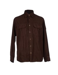 Marlboro Classics Shirts Shirts Men Dark Brown