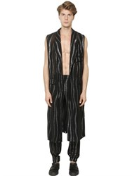 La Perla Waves Chiffon And Lurex Long Vest