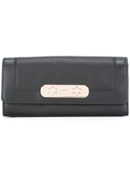 Coach Flap Closure Wallet Black