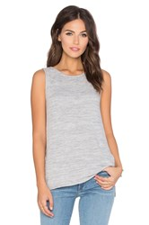 Velvet By Graham And Spencer Helga Cozy Heather Tank Gray
