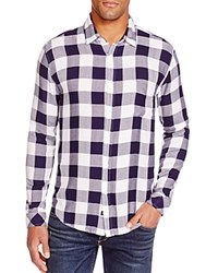Rails Lennox Plaid Regular Fit Button Down Shirt White Midnight