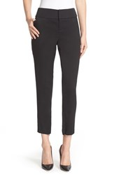 Alice Olivia Women's Stacey Wide Waist Fitted Ankle Trousers