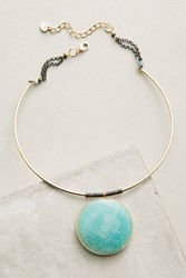Anthropologie Gemstone Wire Choker Turquoise