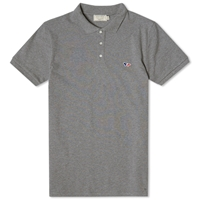 Maison Kitsune Tricolour Fox Polo Grey Melange