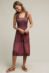 Anthropologie Silk And Sweater Chemise Violet