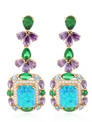 Anabela Chan Opals Deco Gold Earrings
