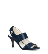 Michael Kors Rochelle Sling Back Patent Leather Sandal Navy