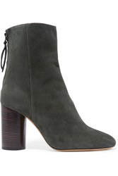 Isabel Marant Garett Suede Ankle Boots Army Green Charcoal