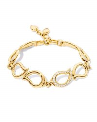 Tamara Comolli Signature 18K Gold Paisley Link Bracelet With Diamonds