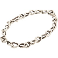 Sterling Silver Twisted Link Bracelet