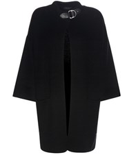 Polo Ralph Lauren Wool Cape Style Cardigan Black