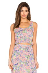 Minkpink Staring At Sunsets Crop Top Pink