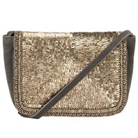 John Lewis Collection Weekend By Amelie Sequin Across Body Bag Grey
