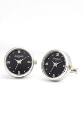 Cufflinks Inc. Penny Black 40 Functional Watch Cuff Links Silver