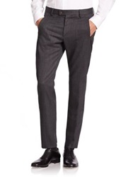 Giorgio Armani Slim Fit Wool Dress Pants Charcoal