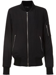 Amiri Zip Sleeve Bomber Jacket Black
