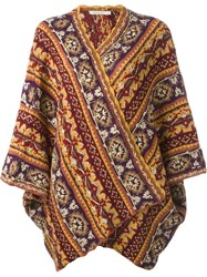 Mes Demoiselles Poncho Cardigan Yellow And Orange