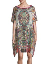 Etro Hawaiian Silk Blend Caftan Red
