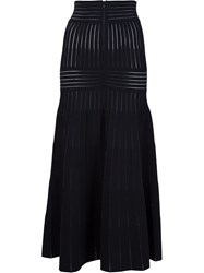 Barbara Casasola Fluted Skirt Black