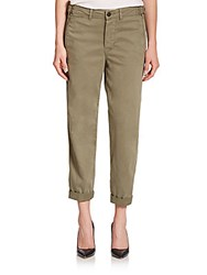 Genetic Los Angeles Relaxed Cropped Straight Leg Jeans Army Green