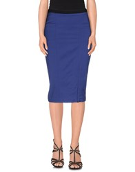 Twin Set Simona Barbieri Skirts Knee Length Skirts Women Blue