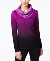 Ideology Fleece Cowl Neck Top Only At Macy's Push It Purple