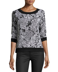 Yoana Baraschi Cobra Print Top Black White