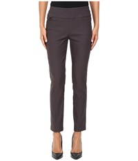Lisette L Montreal Solid Magical Lycra Ankle Pants Dark Slate Women's Casual Pants Gray